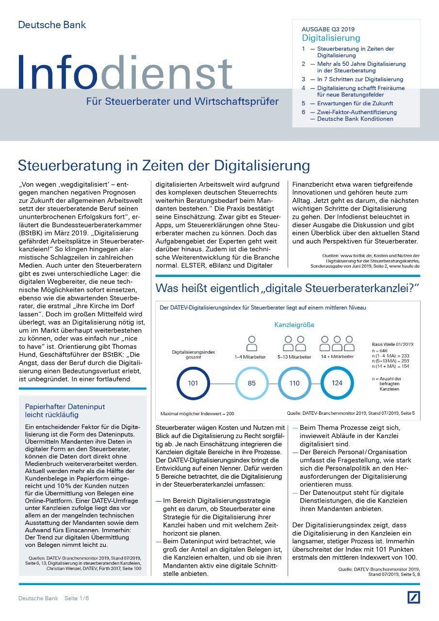 Infodienst Steuerberater und Wirtschaftsprüfer 03/2019