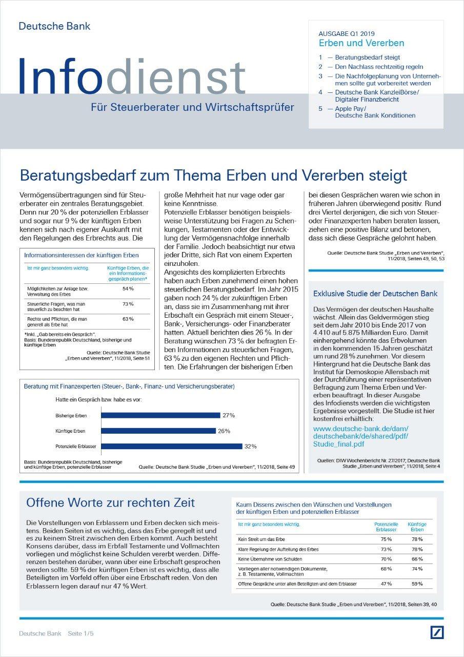 Infodienst Steuerberater und Wirtschaftsprüfer 01/2019