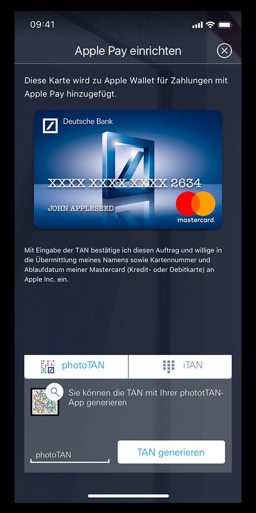 Visa Karte Sicherheitscode.Apple Pay Deutsche Bank Deutsche Bank Privatkunden