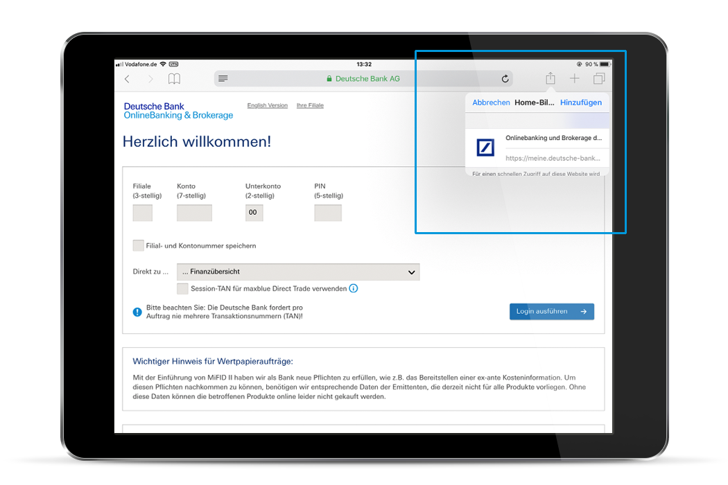 Deutsche Bank Mobile App Deutsche Bank Privatkunden
