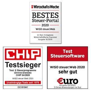 Auszeichnung von WISO steuer:Web