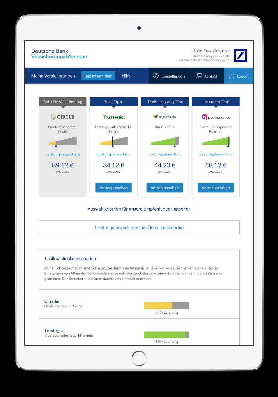 Optimierung der Sachversicherung nach Preis und Leistung