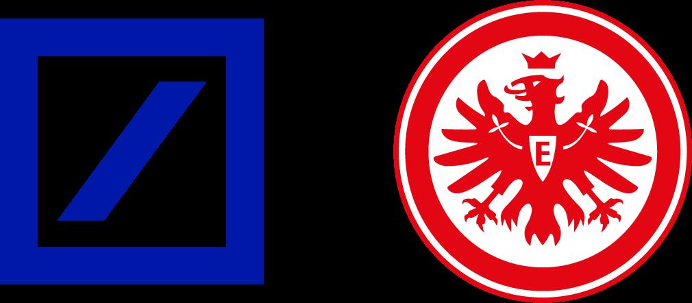 Logos Deutsche Bank und Eintracht Frankfurt