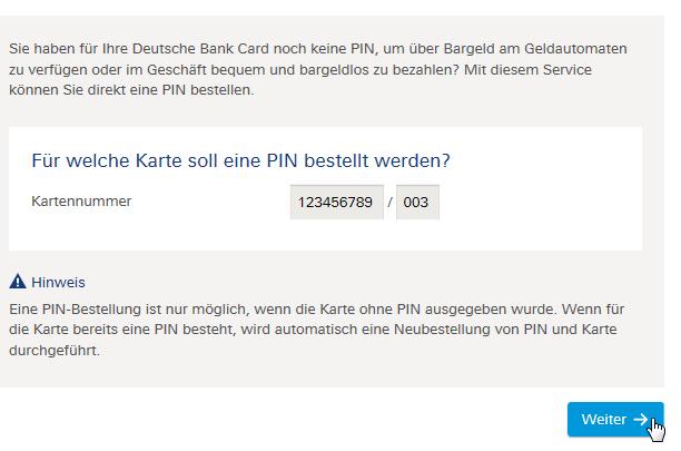 Deutsche Bank Online Banking Pin ändern