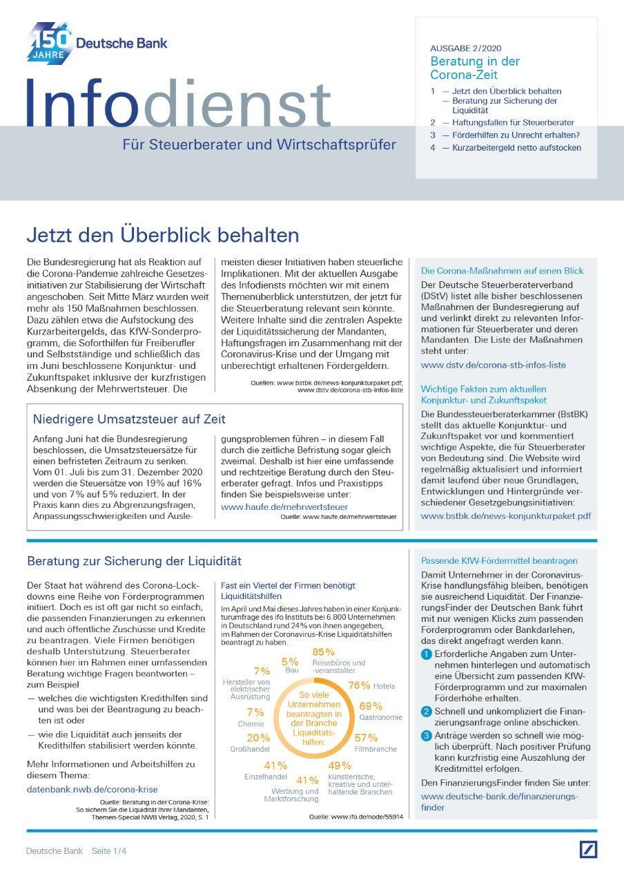 Infodienst Steuerberater und Wirtschaftsprüfer 02/2020