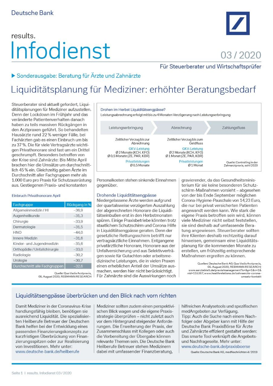 Infodienst Steuerberater und Wirtschaftsprüfer 03/2020