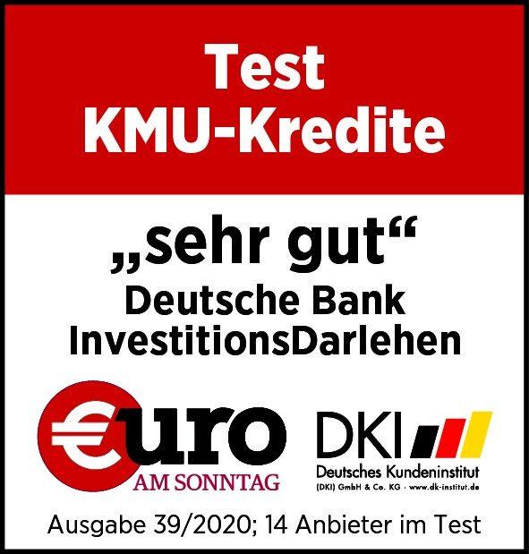 Deutschen Bank Investitionsdarlehen sehr gut
