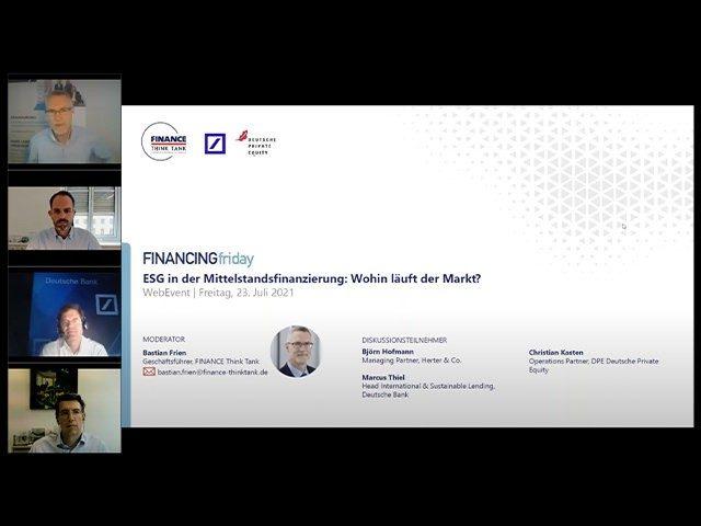 ESG in der Mittelstandsfinanzierung
